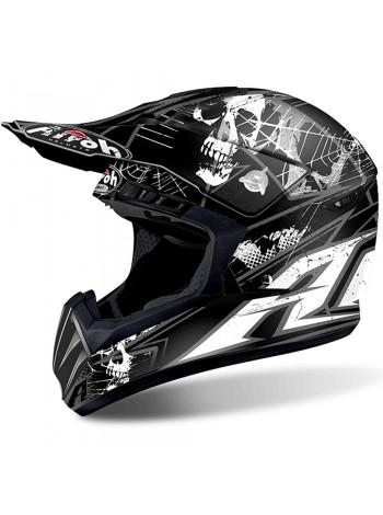 Шлем кроссовый Airoh Switch Scary Black Matt