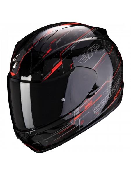 Шлем интеграл SCORPION EXO-390 BEAT Черно-красный