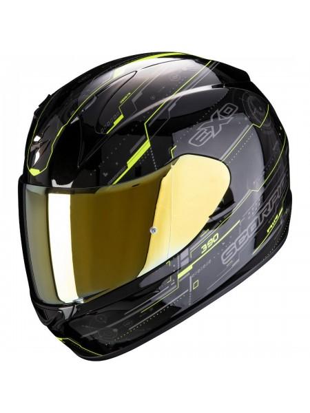 Шлем интеграл SCORPION EXO-390 BEAT Черно-желтый