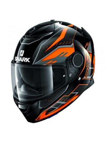 Мотошлем Shark SPARTAN ANTHEON Оранжево-черный