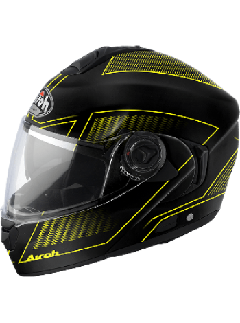 Мотошлем Airoh Rides Черно-желтый