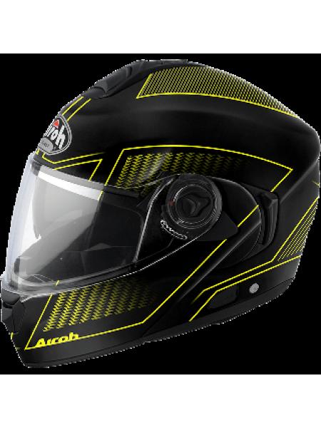 Шлем модуляр Airoh Rides Черно-желтый