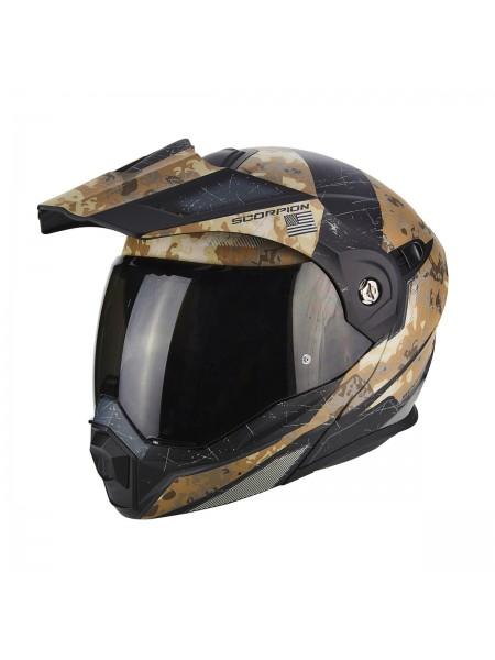 Шлем модуляр Scorpion ADX-1 BATTLEFLAGE Песочный