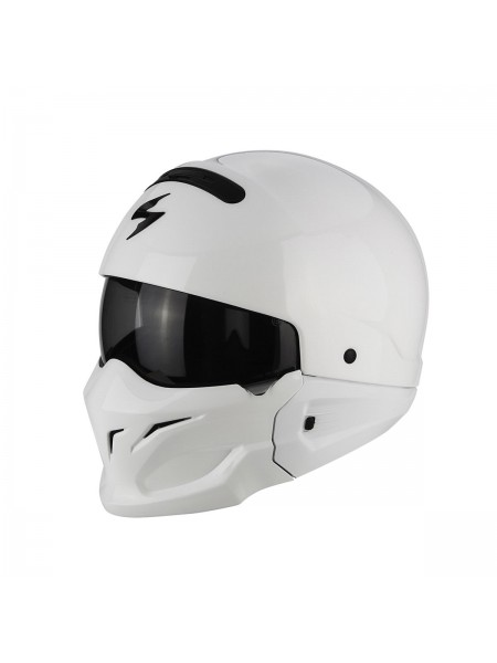 Шлем модуляр Scorpion EXO COMBAT SOLID White