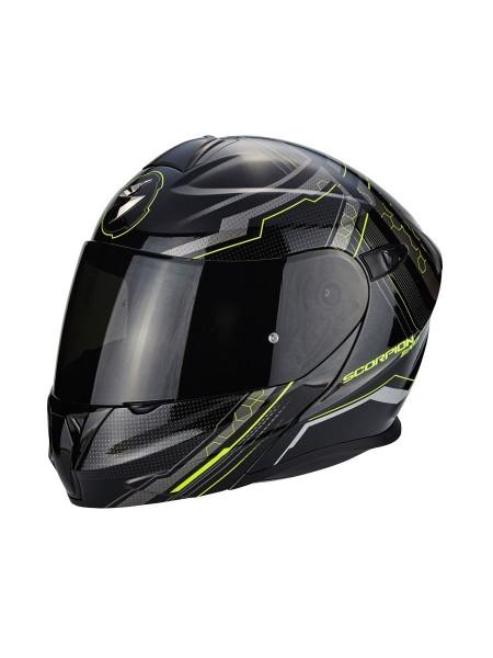 Шлем модуляр Scorpion EXO-920 Satellite Black Yellow