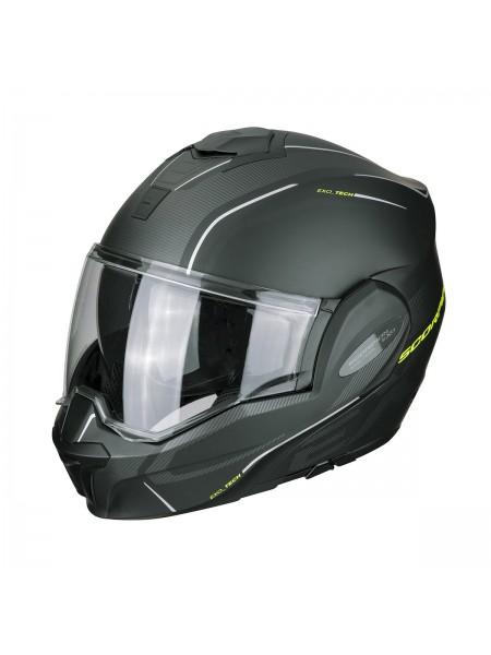Шлем модуляр Scorpion EXO-TECH TIME OFF Черно-желтый