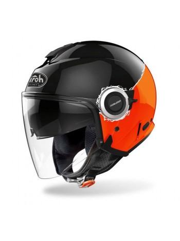 Открытый шлем Airoh Helios FLUO BLACK ORANGE GLOSS