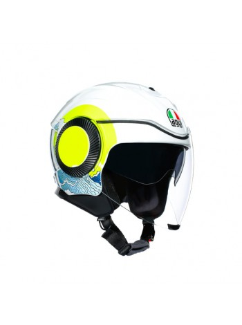 Мотошлем AGV Orbyt Sunset White/Yellow Fluo