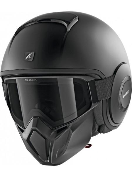 Шлем открытый SHARK STREET DRAK Черный матовый