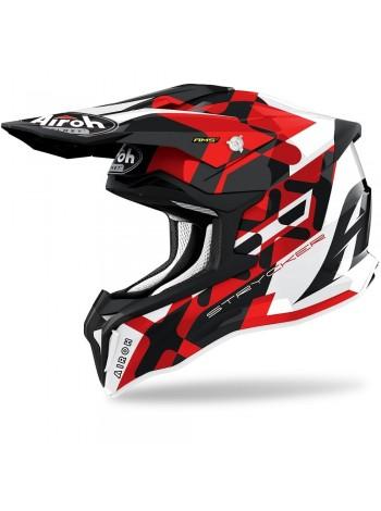 Шлем кроссовый Airoh Strycker XXX Red Gloss