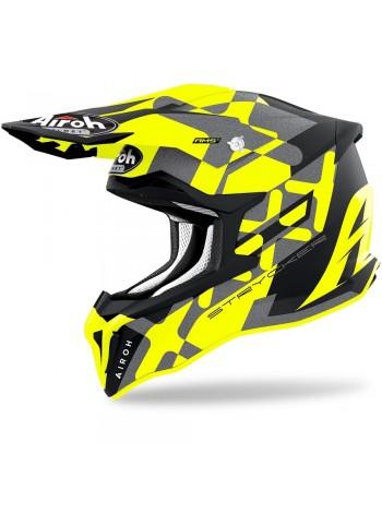 Шлем кроссовый Airoh Strycker XXX Yellow Matt