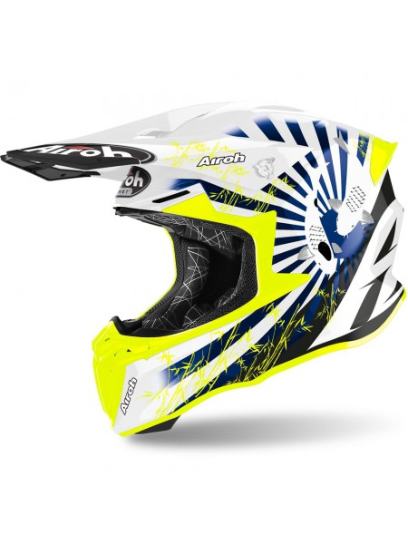 Шлем для кросса Airoh Twist 2.0 Katana Blue Gloss
