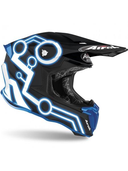 Шлем для кросса Airoh Twist 2.0 Neon Blue Matt