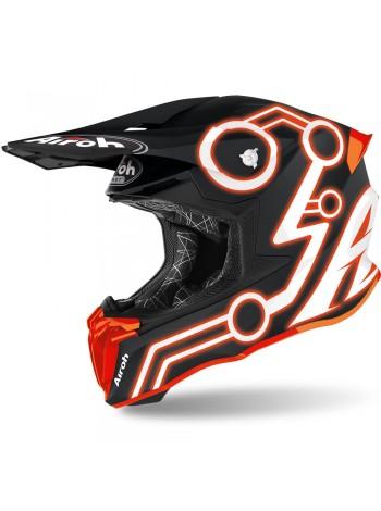 Шлем кроссовый Airoh Twist 2.0 Neon Orange Matt