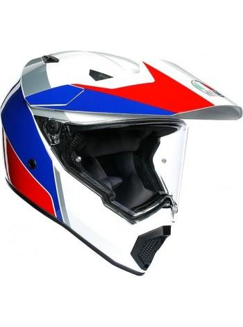Шлем кроссовый AGV AX-9 MULTI Atlante White/Blue/Red