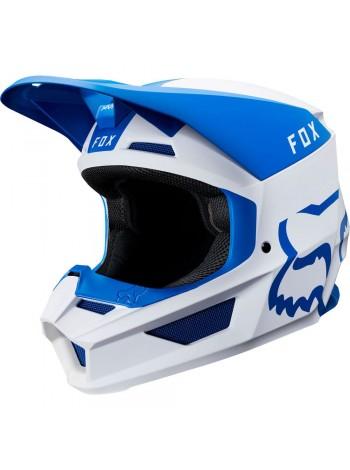 Кроссовый мотошлем Fox V1 Mata Blue White