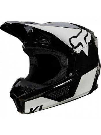 Шлем кроссовый Fox V1 Revn Helmet Black/White