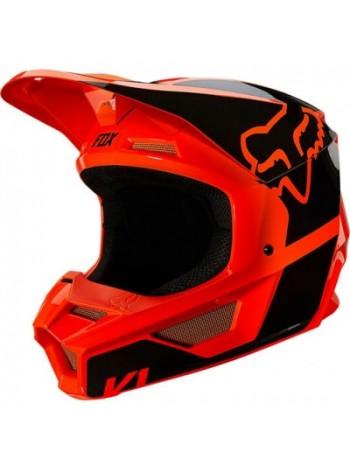 Шлем кроссовый Fox V1 Revn Flow Orange