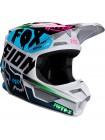 Шлем кроссовый детский Fox V1 Czar светло серый