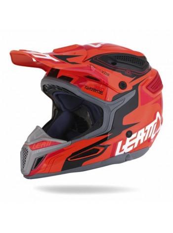 Шлем кроссовый Leatt GPX 5.5 V05 черно-оранжево-красный