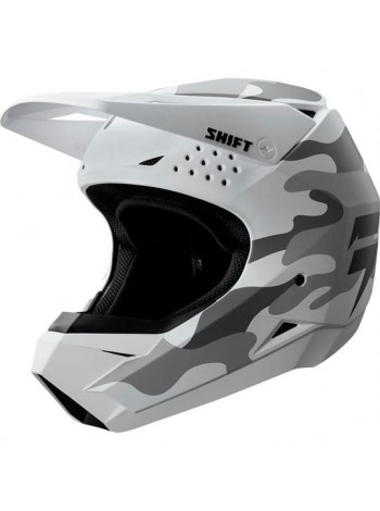 Кроссовый шлем Shift Camo White