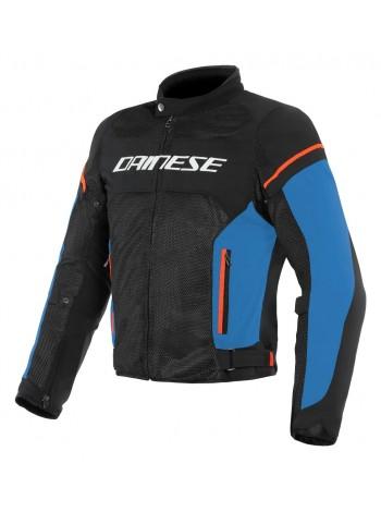 Мужская куртка Dainese AIR FRAME D1 TEX Black/Light-Blue/Fluo-Red