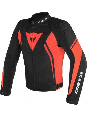 Мужская куртка Dainese AVRO D2 TEX JACKET черно-красная