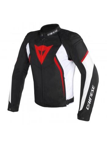 Мужская куртка Dainese AVRO D2 TEX JACKET черно-бело-красная