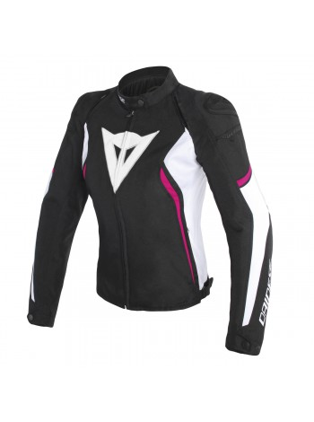Женская куртка Dainese AVRO D2 TEX JACKET черно-розовая