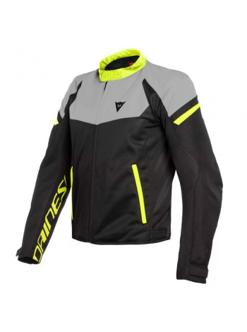 Мужская куртка Dainese BORA AIR TEX Black/Magnesio-Matt/Fluo-Yellow