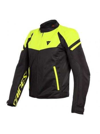 Мужская куртка Dainese BORA AIR TEX JACKET черно-желтая
