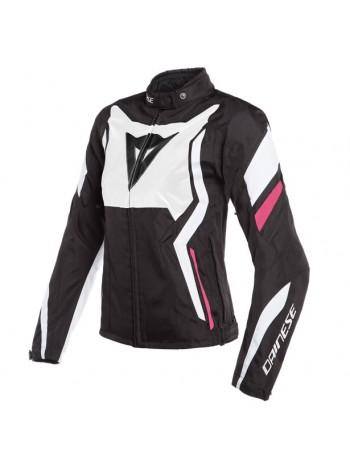 Женская куртка Dainese Edge Tex Jacket Черно-розовая