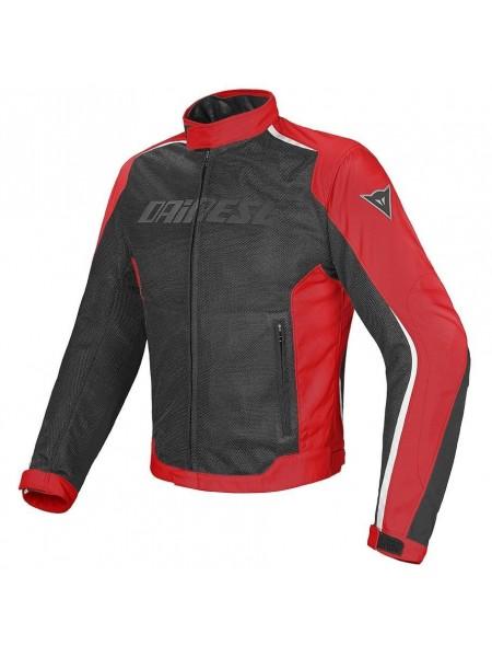 Мотокуртка мужская текстильная Dainese HYDRA FLUX D-DRY Черно-красная
