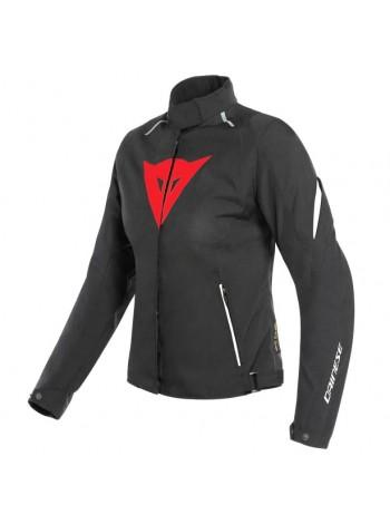 Женская куртка Dainese LAGUNA SECA 3 LADY D-DRY BLACK/LAVA-RED/WHITE