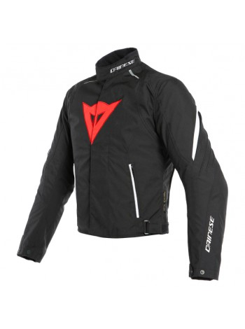 Мужская куртка Dainese LAGUNA SECA 3 D-DRY JACKET BLACK/LAVA-RED/WHITE