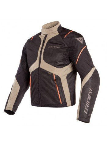 Мужская куртка Dainese SAURIS D-DRY Black/Fallen-Rock/Vermillion-Orange