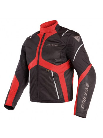 Мужская куртка Dainese SAURIS D-DRY Black/Tour-Red/Light-Gray