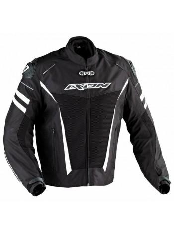 Куртка текстильная мужская Ixon Typhon Race HP Черно-белая