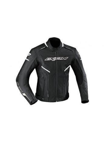 Куртка кожаная мужская Ixon Stuner черно-белая