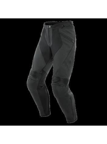 Мотобрюки кожаные Dainese PONY 3 PERFORATED Black-Matt