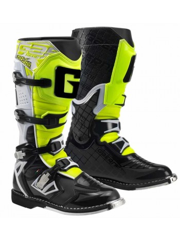 Кроссовые мотоботы Gaerne G-React Goodyear White Black Yellow