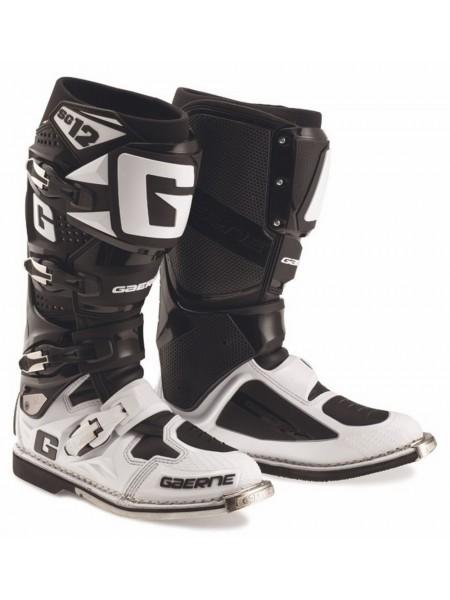 Мотоботы Gaerne SG-12 Black White (черные с белым)