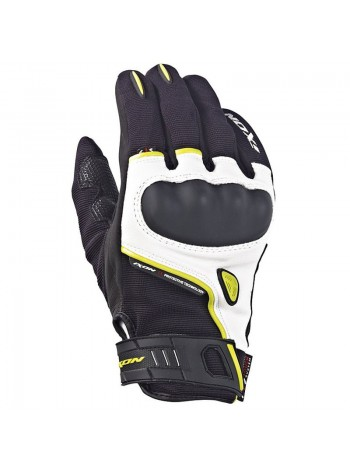 Перчатки Ixon RS grip Leath roadster black/white/bright yellow