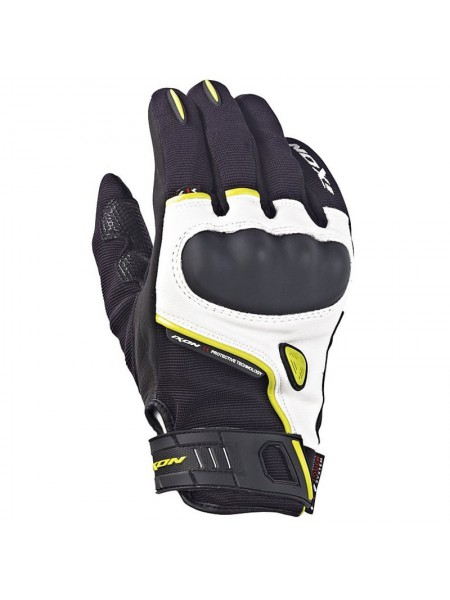 Короткие перчатки Ixon RS grip Leath Roadster black/white/bright yellow