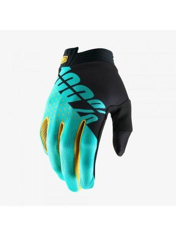 Мотоперчатки 100% ITrack Black Aqua