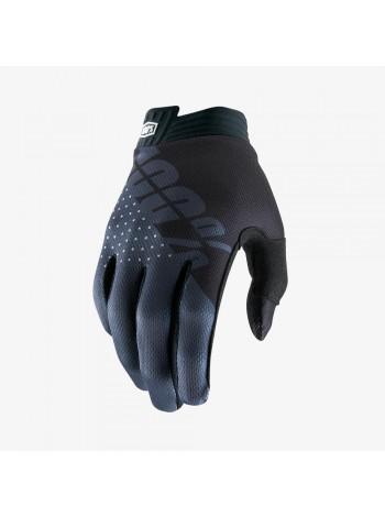 Мотоперчатки 100% ITrack Black Charcoal