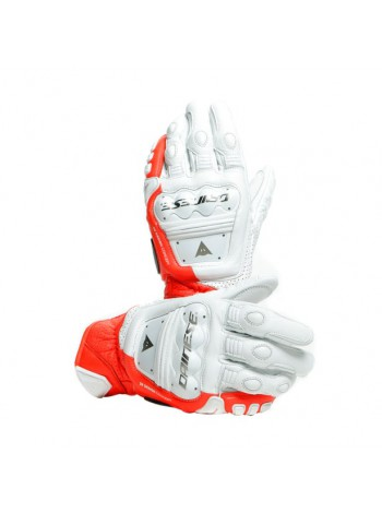 Мотоперчатки Dainese 4-STROKE 2 White/Fluo-Red