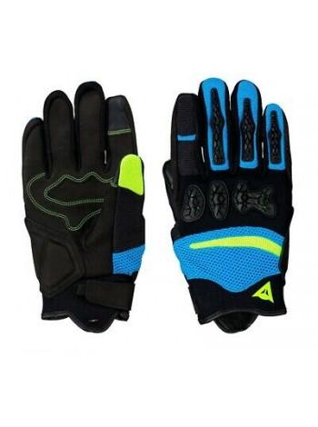 Мотоперчатки Dainese Aerox UNISEX Black/Fire-Blue/Fluo-Yellow