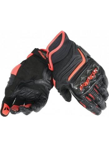 Мотоперчатки Dainese CARBON D1 SHORT Черно-красные