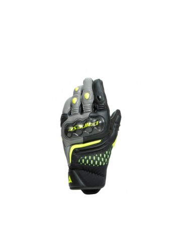 Мотоперчатки Dainese CARBON 3 SHORT Black/Charcoal-Gray/Fluo-Yellow